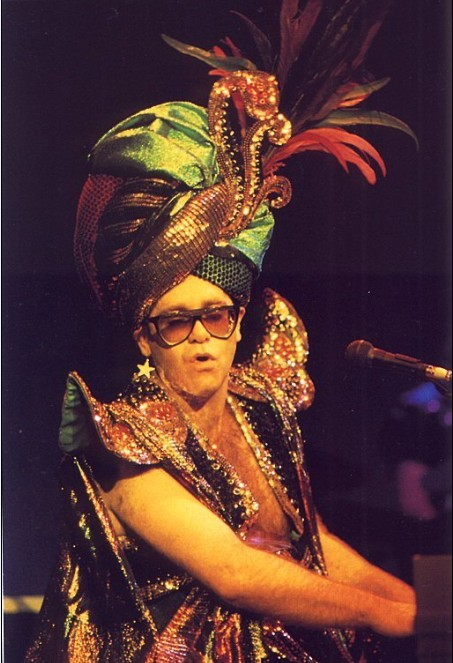 The Many Stage Outfits of Elton John!